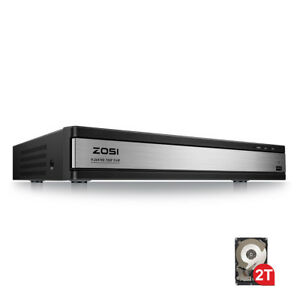 Details about ZOSI 16 Ch Channel 1080N Surveillance DVR HDMI Recorder with  2TB Security System