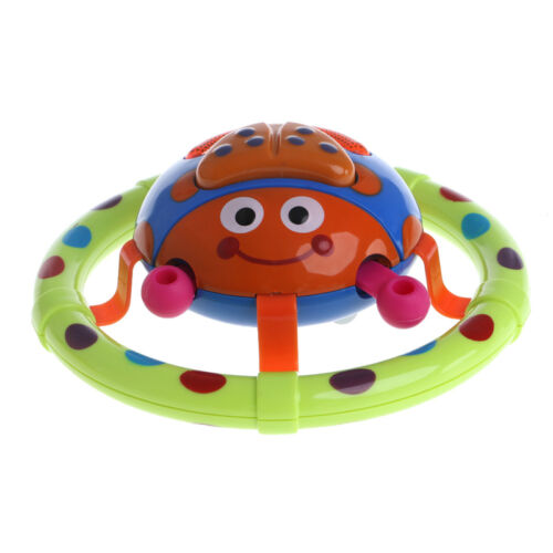 Cute Baby Musical Light Ladybug Toys Children Kids Sound Round Instrument Gift