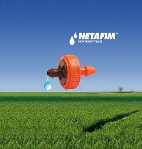 100 Netafim PCJ Drippers Button Emitters Drip Trickle