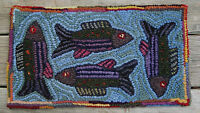 Fishing For Compliments Complete Primitive Rug Hooking Kit Or Pattern Only