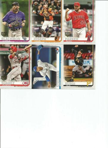 FREE SHIPPING!!! Series 1 2019 TOPPS Baseball 150th Anniversary Gold Stamp