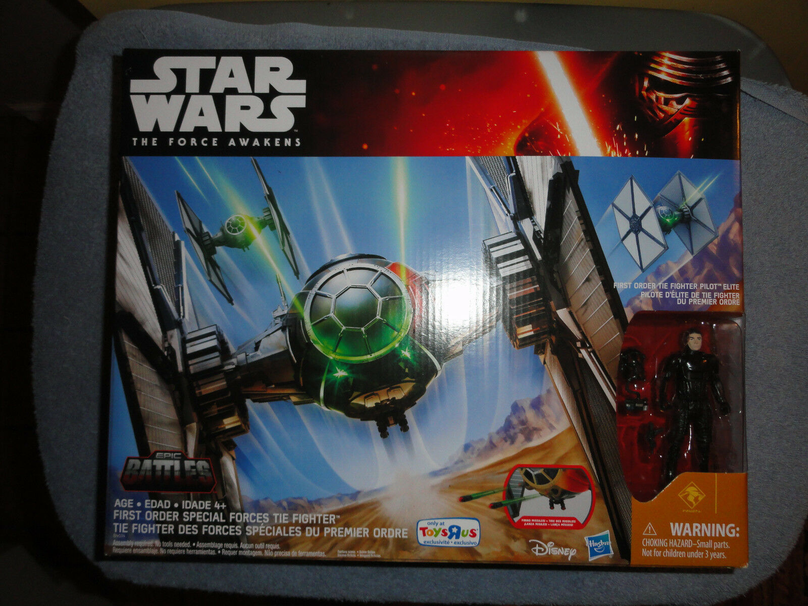 Star Wars The Force Awakens Tie Fighter w    pilot TRU Exclusive 2015 MIB  (E) 0eee72