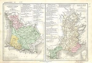 Basin-Bassin-de-la-Garonne-Bassin-du-Rhone-France-MAP-CARTE-ATLAS-1882