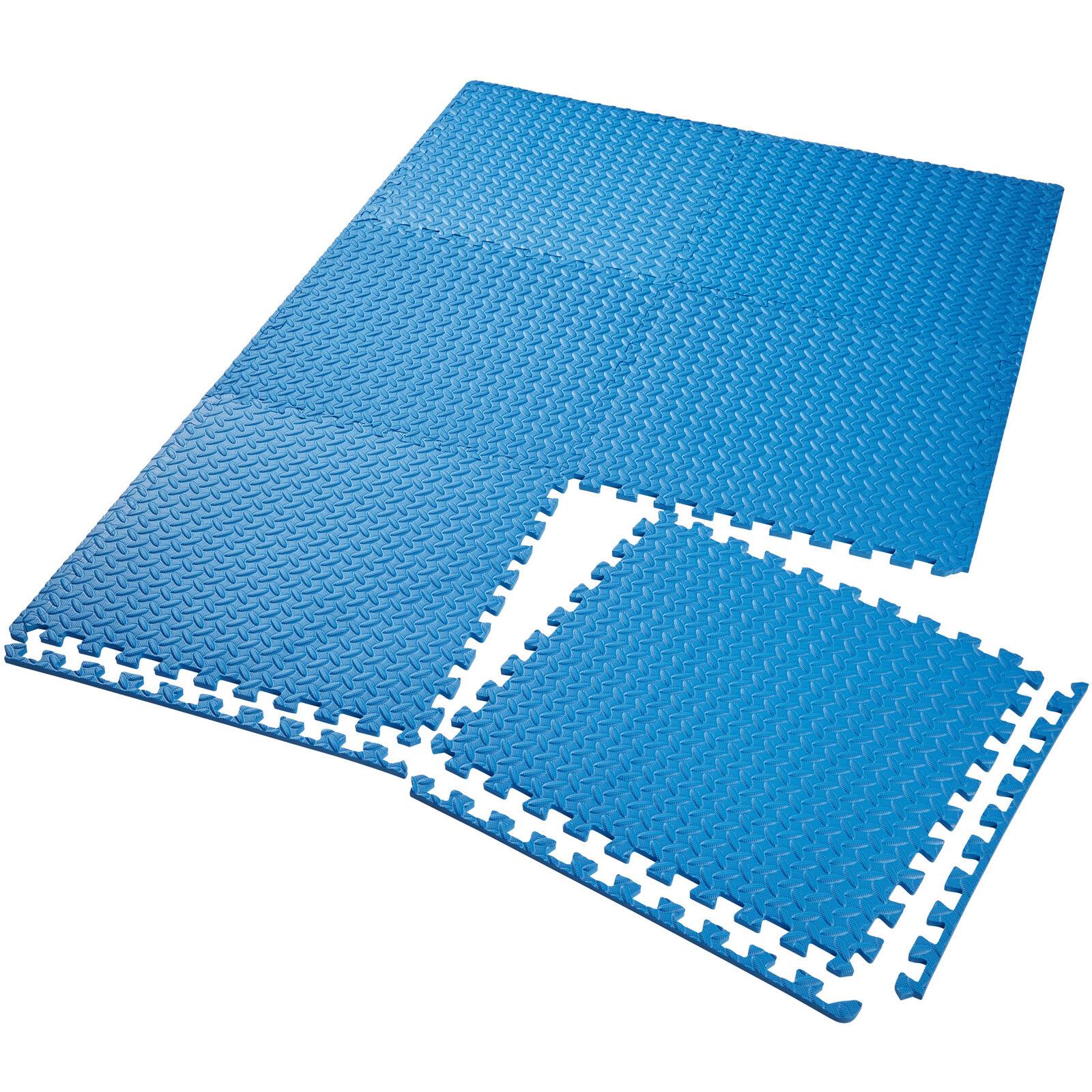 Conjunto de 6 esteras de protección dispositivo de fitness para gimnasio azul