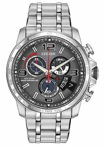 Citizen-Eco-Drive-Men-039-s-BY0100-51H-A-T-Chronograph-Alarm-Grey-Dial-44mm-Watch