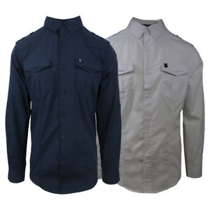 Marc-Ecko-Men-039-s-Original-Button-Down-L-S-Woven-Shirt-Retail-55