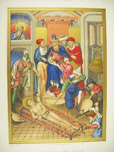 Enthousiaste Le Martyre De Saint Laurent Moulin D'ap Ciappori Litho Xixe 1858 Hangard Maugé