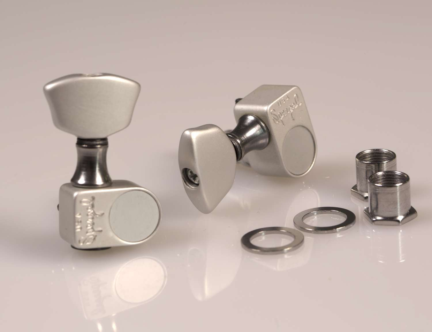 Genuine Sperzel Solid Pro 3x3 Satin Chrome tuners - Auth Dealer 3x3-STD-SC