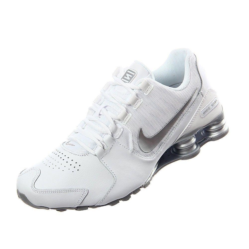 Nike Shox Avenue LTR shoes White Metallic Silver 833584-100 Mens Sz 8.5