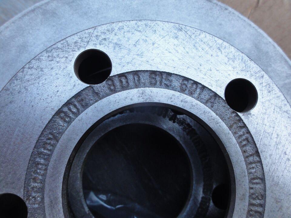 Bremsedele, Bremseskive bag, Audi A4 1,8