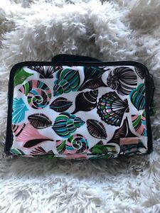 Stephanie-Johnson-Cosmetic-Bag-Makeup-Tote-Shells-Black-Green-Blue-Pink