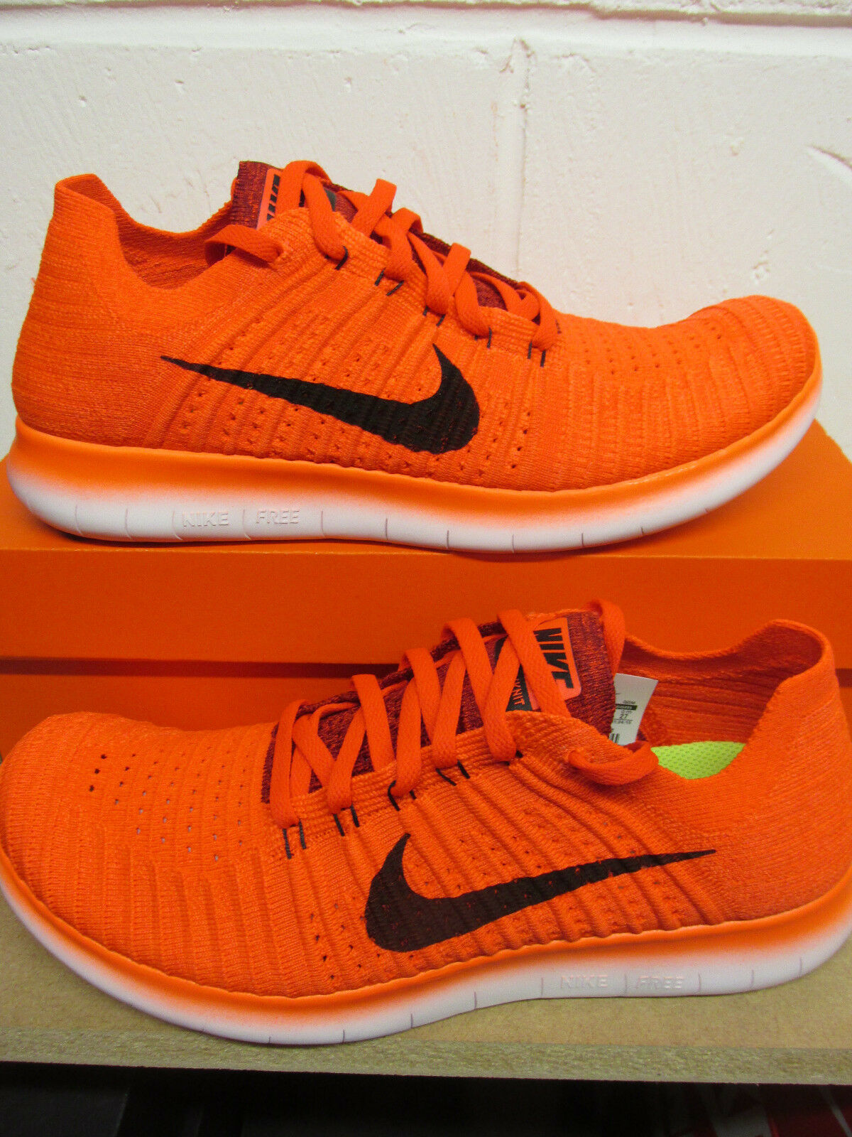 nike free RN flyknit mens running trainers 831069 600 sneakers shoes