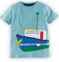 Mini Boden Boys Applique top t-shirt cotton 1-12 years new short sleeve