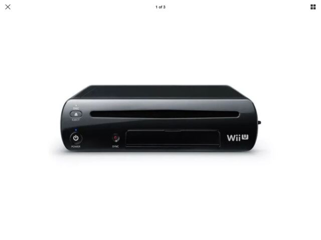 Nintendo Wii U Black 32GB Deluxe System Original Replacement Console Only