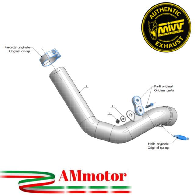 S.010.C1 Tubo Elimina Kat MIVV Decatalizzatore Acciaio inox per Sv 650 2003 03
