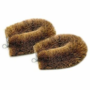 Details about 4 pcs Natural Coconut Coir Fibre Scrubbing Brush, Glass  Washing Brown Handmade