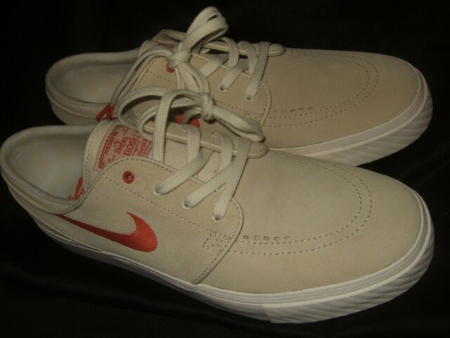 Nike Men's Zoom Stefan Janoski Suede Skate Shoes Fossil Vintage Coral Size 10.5