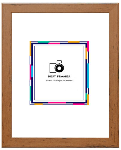 Effet Bois Cadre Photo Poster cadres toutes tailles couleurs accrocher ou stand display