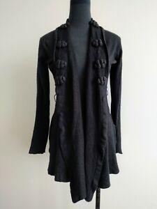 Willow-Grey-Silk-Cashmere-Waterfall-Knit-Cardigan-Jacket-AU-8