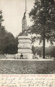 Postcard-Wallace-Monument-Druid-Hill-Park-Baltimore-Maryland-Posted-1905