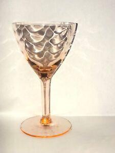 Pink-4-Cordial-Glasses-West-Virginia-Specialty-Glass-Loop-Optic