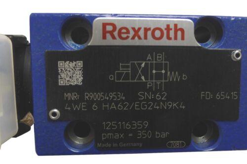 R900549534 4we6ha6x//eg24n9k4 bosch rexroth caminos-válvula de compuerta directional Valve