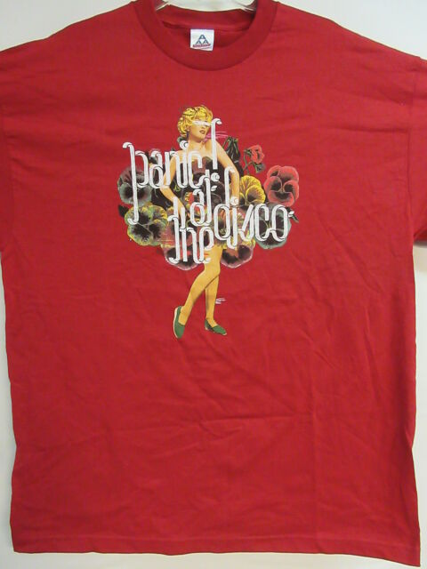 NEW - PANIC AT THE DISCO BAND CONCERT MUSIC T-SHIRT EXTRA LARGE