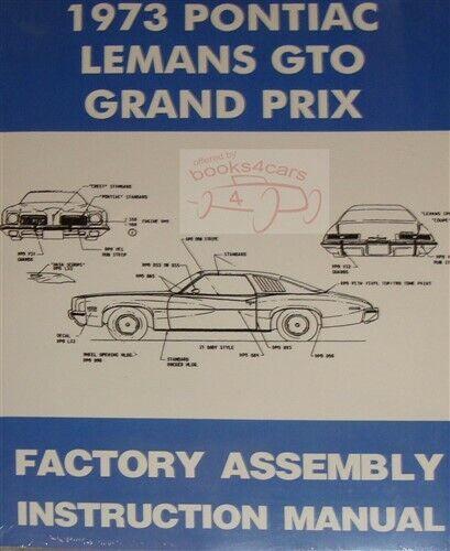 PONTIAC 1973 Grand Prix Owner/'s Manual 73