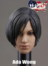 """1/6 Resident Evil Ada Wong Custom Head Sculpt For 12"""" Hot Toys Phicen IN STOCK"""