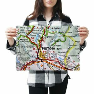 A3-Pistoia-Europe-Italy-Italian-Travel-Map-Poster-42X29-7cm280gsm-46123
