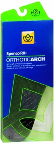 Spenco RX 3//4 Length Orthotic Arch Supports Size 2 1 Pa