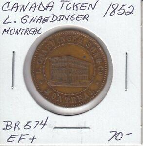 CANADA-TOKEN-L-GNAEDINEER-BR524B-1852-BR574-EF