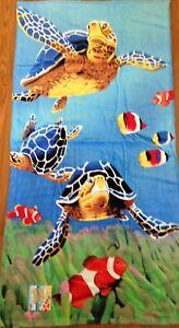 30-034-x-60-034-Turtles-Lake-Beach-Pool-Towel-100-Cotton-NWT