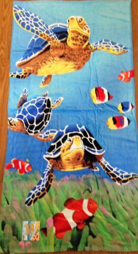 "Pool Towel 100/% Cotton NWT 30/"" x 60/"" Turtles Lake Beach"