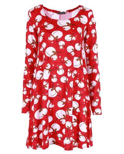 Girls Kids Novelty Christmas Swing Dress