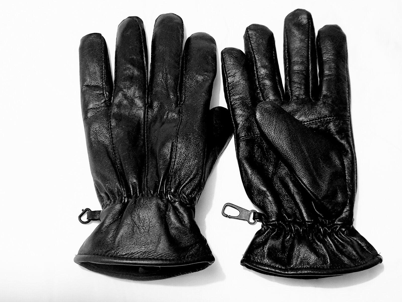 Black 100% Genuine Leather Gloves Medium L XL XXL XXXL Winter Gloves