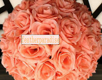 11-12 Inches Peach Rose Flower Ball Wedding Decoratin Ball Kissing Ball
