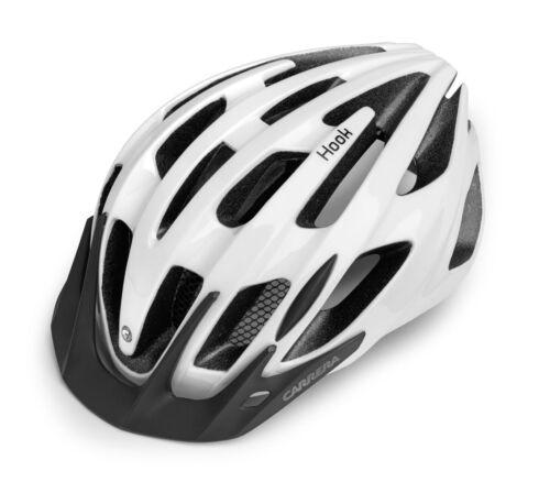 Carrera Gancio MTB Mountain Bike Cycle Casco S-ML-XL Bianco Nuovo con Scatola