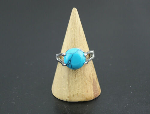 Wholesale Mixed Lots 35pcs Women Rings Blue Natural Stone Jewelry Silver P Ring