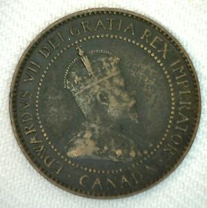 1904-Canada-One-Cent-Coin-Large-Cent-1c-Bronze-You-Grade