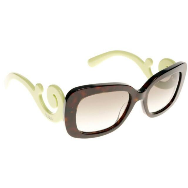 56932d8f411c RARE Genuine PRADA Minimal Baroque Havana Green Ladies SPR 27O QFL 0A7 PR  27OS