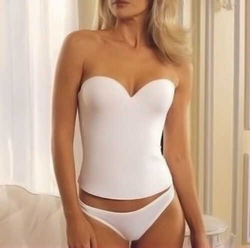 how to orders newest collection search for clearance White SEAMLESS BRIDAL Wedding BUSTIER LOW BACK CORSET PUSH UP LONGLINE BRA  Top