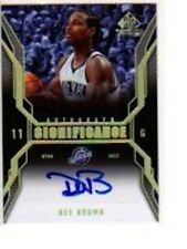 DEE BROWN 2007-08 SP GAME USED SIGNIFICANCE #SI-DB AUTO