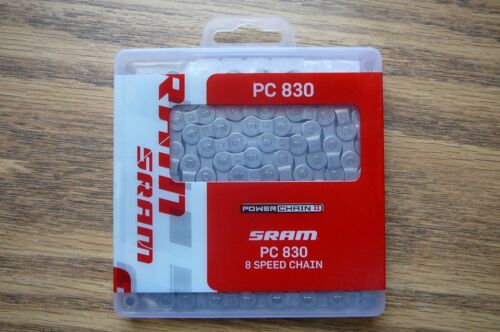 8 Speed SRAM Bicycle Chain PC 830 W//Powerlink Connector fits SRAM and Shimano
