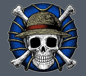 Details About Monkey D Luffy Realistic Pirate Skull Jolly Roger One Piece Anime Manga Shirt