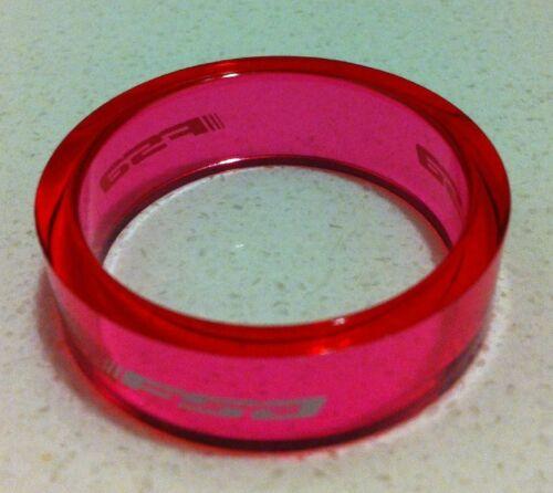 Nouveau FSA Transparent Rose Headset Spacer 160-3502TP 1-1//8thx10mm H2307B