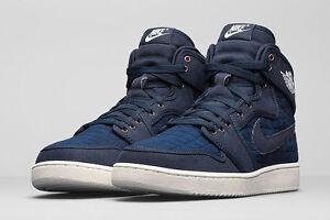 2016 Nike Air Jordan 1 KO High OG SZ 8 Obsidian Blue Sail white 638471-403