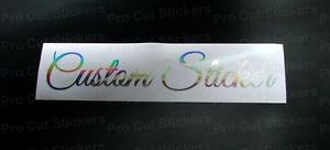 Rose gold personalised hologram neo Custom text font sticker