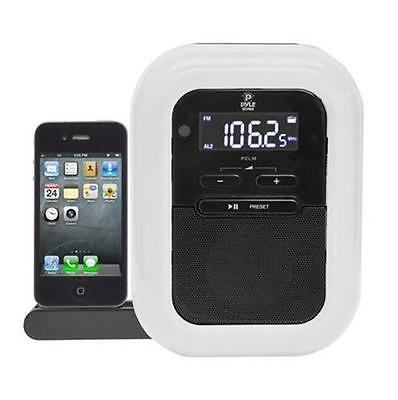Pyle PICL36B iPod//iPhone Speaker Docking Station FM Radio Alarm Clock MP3-In
