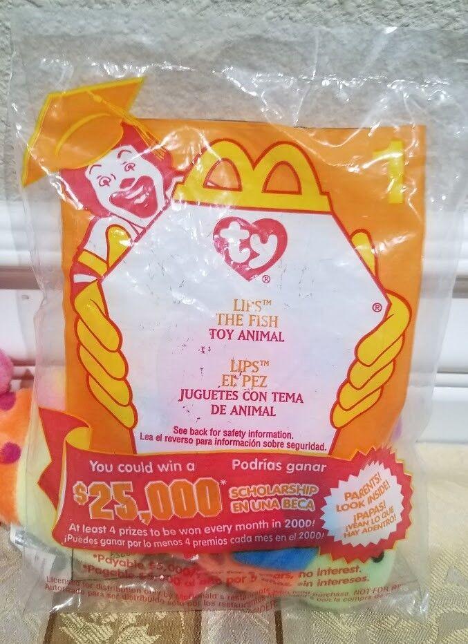 RARE Ty Beanie Baby w ERRORS - - -  Lips  Fish and McDonald's NIB  Lips  8b4f69